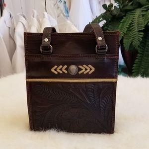 🐠 Vintage American West Leather HandBag